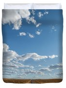 Road Near Ten Sleep Wyoming Duvet Cover
