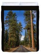 Road Through Lassen Forest Duvet Cover