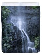 Road To Hana Waterfall Duvet Cover