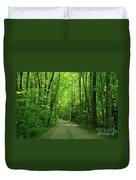 Road To Jasper Woods Duvet Cover