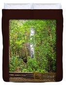 Roadside Waterfall Duvet Cover