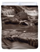 Roaring Fork Great Smokey Mountains Bw Duvet Cover