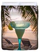 Roatans West Bay, Tropical Drink Duvet Cover