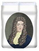 Robert Boyle, British Chemist Duvet Cover