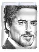 Robert Downey Jr. Duvet Cover