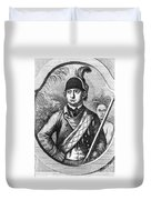 Robert Rogers, Colonial American Duvet Cover by Photo Researchers