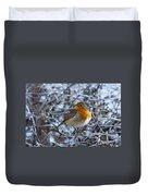 Robin On A Frosty Morning Duvet Cover