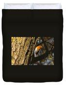 Robin On Tree Duvet Cover