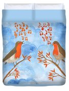 Robin Singing Competition Duvet Cover