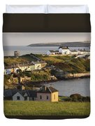 Roches Point Lighthouse In Cork Harbour Duvet Cover