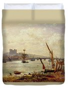 Rochester Cathedral And Castle Duvet Cover