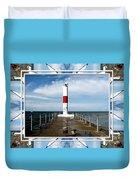 Rochester New York Harbor Lighthouse Duvet Cover