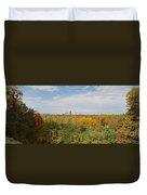 Rochester Skyline Panorama Duvet Cover