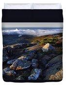 Rock And Fog Duvet Cover