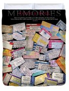 Rock And Roll Memories Duvet Cover