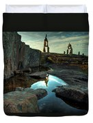Rock Balancing Grand Marais Duvet Cover