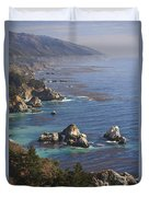 Rock Formations Along The Coast Big Sur Duvet Cover