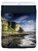 Rock Formations At The Coast Duvet Cover