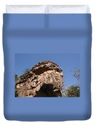 Rock Formations Bhimbhetka Duvet Cover
