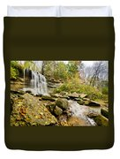 Rock Glen Falls Duvet Cover by Cale Best