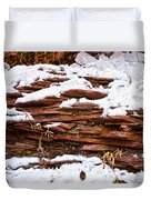 Rock Sandwich With Snow Icing Duvet Cover