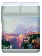 Rock Towers Of The Rio Virgin Duvet Cover