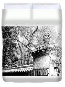 Rockefeller Garden Fence Duvet Cover