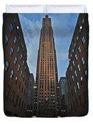 Rockefeller Tree Duvet Cover
