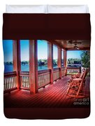 Rocking Chair Porch View Duvet Cover
