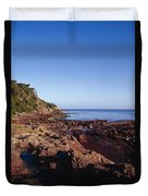 Rockpools In Volcanic Rock Formations Duvet Cover