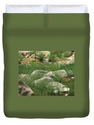 Rocks And Grass At Amidon Conservation Area Missouri Duvet Cover