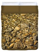 Rocks In Crystal Clear Water Duvet Cover