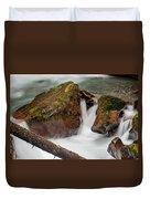 Rocks Of Avalanche Gorge Duvet Cover
