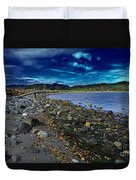 Rocky Beach In Western Canada Duvet Cover