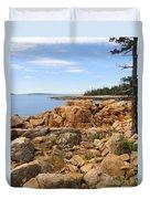Rocky Coast Of Maine Duvet Cover