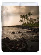 Rocky Coastline, Poipu, Kauai, Hawaii Duvet Cover