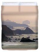 Rocky Headlands On The Big Sur Coast Duvet Cover