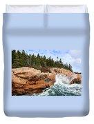 Rocky Maine Coastline. Duvet Cover