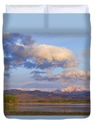 Rocky Mountain Early Morning View Duvet Cover