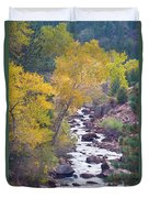 Rocky Mountain Golden Canyon Scenic View Duvet Cover