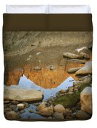 Rocky Mountain Peaks Are Reflected Duvet Cover