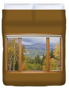 Rocky Mountain Picture Window Scenic View Duvet Cover
