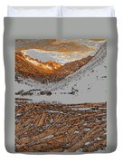 Rocky Mountain Winter Duvet Cover