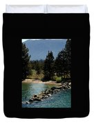 Rocky Retaining Wall Lake Tahoe Duvet Cover