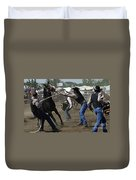 Rodeo Wild Horse Race Duvet Cover