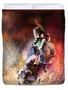 Rodeoscape 01 Duvet Cover by Miki De Goodaboom