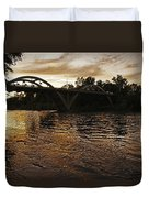 Rogue River Sunset Duvet Cover