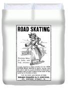 Roller Skates, 1896 Duvet Cover