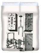 Rolling Mill For Lead Strips Duvet Cover by Photo Researchers