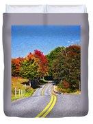 Rolling Thru West Virginia Impasto Duvet Cover